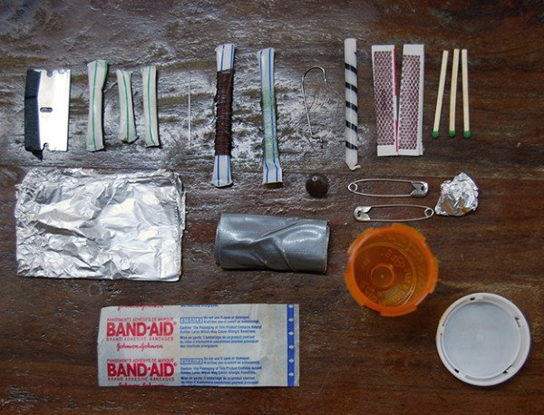 Pill Bottle Survival Kit Contents