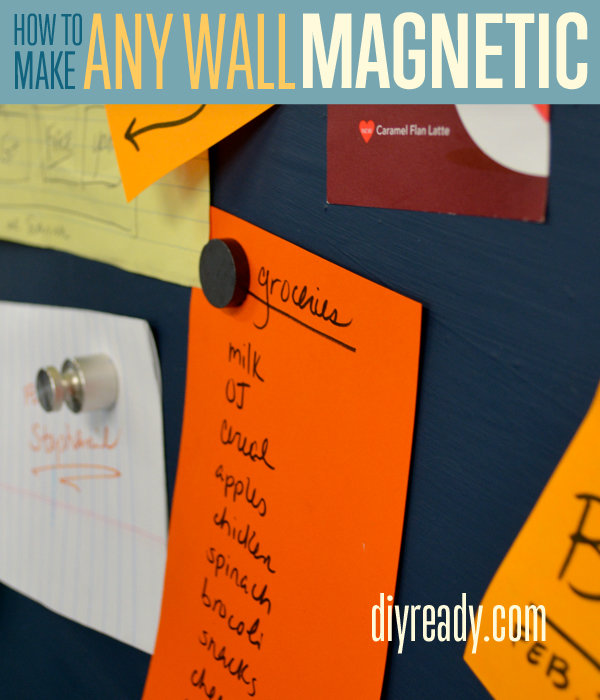 Magnetic wall | DIY Organization Ideas For A Clutter-Free Life