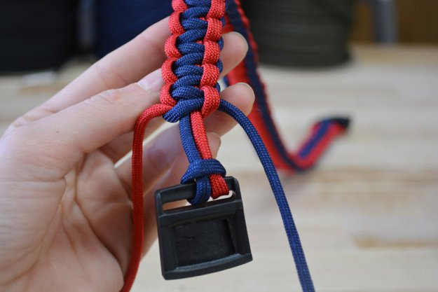 Continue on down until you reach the end of the collar | Learn To Make A Paracord Dog Collar | Instructions