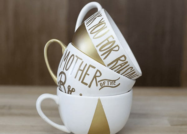 Hand Painted Gold Mugs Diy Projects Craft Ideas How To S