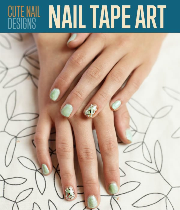 Cute-nail-designs-nail-tape - Cute And Easy Nail Art Designs DIY Projects Craft Ideas & How To's