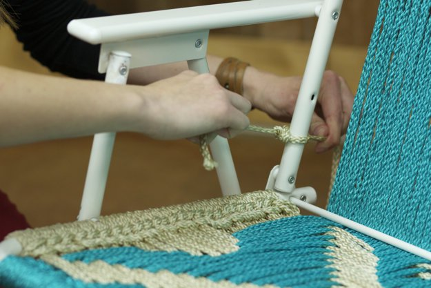 Weave the Back of the Seat | How To Make A Macrame Lawn Chair | DIY Projects