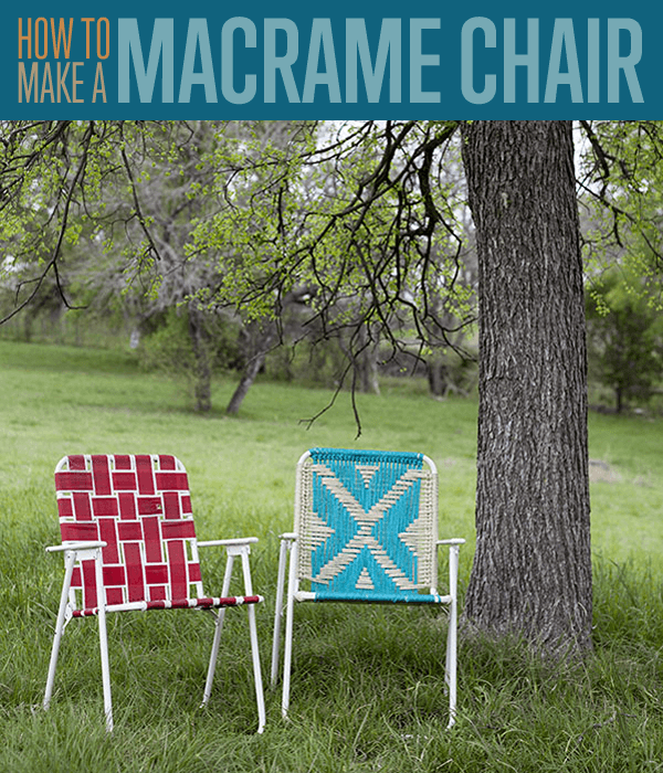 How To Make A Macrame Lawn Chair | DIY Projects | https://diyprojects.com/make-macrame-lawn-chair/