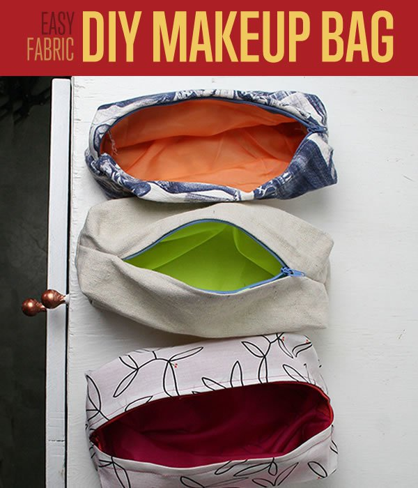 Easy Fabric Make-up Bag | Easy Crafts To Make And Sell