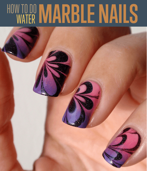 Water Marble Nail Art DIY Projects Craft Ideas & How To\'s for Home ...
