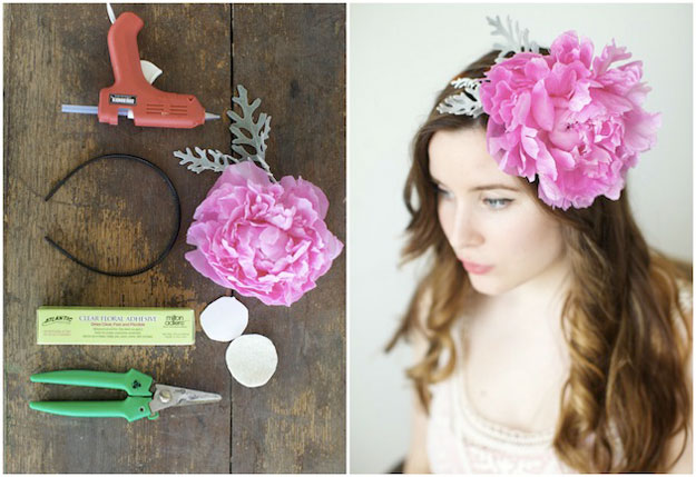 Real Peony Headband | 36 DIY Projects For Teenagers