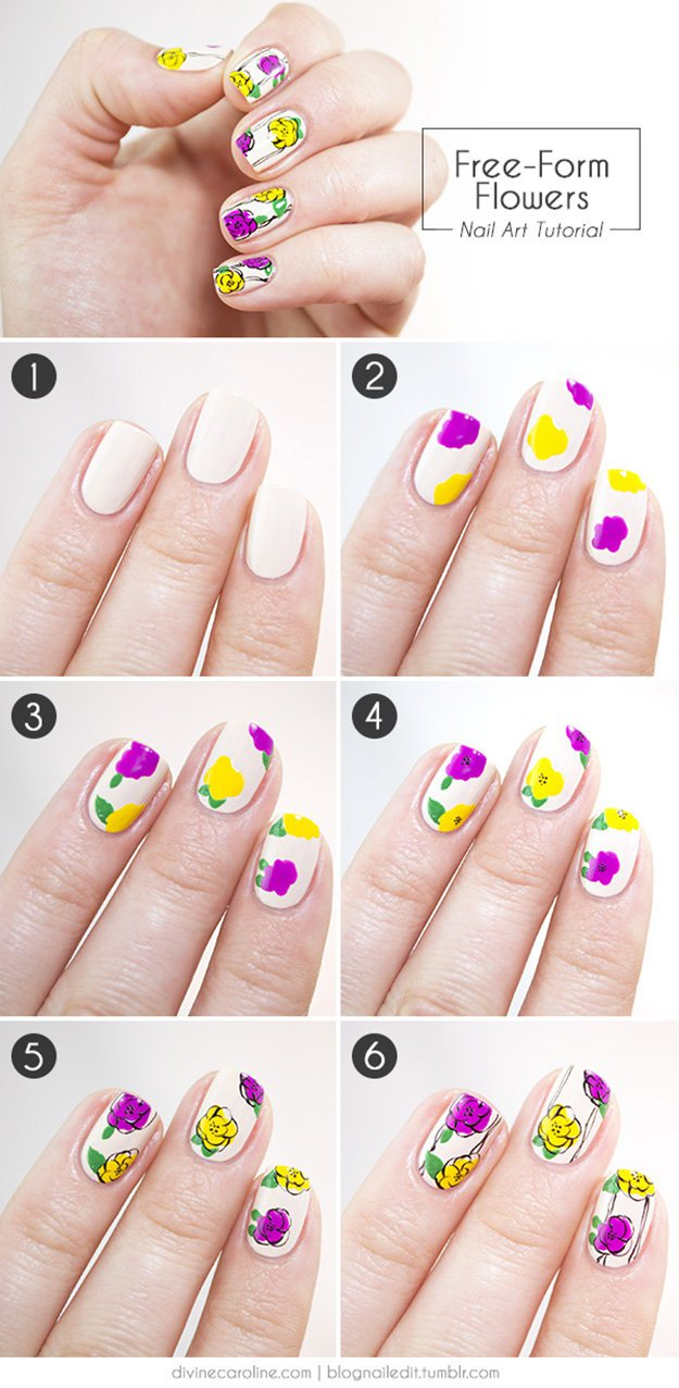 Easy Nail Art Designs DIY Projects Craft Ideas & How To\'s for Home ...