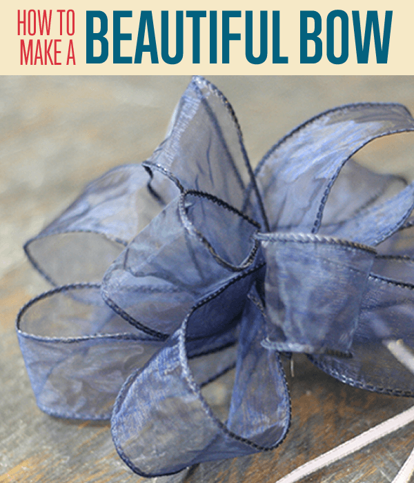 How to Make a Bow | How to Tie a Beautiful Bow out of Wired Ribbon