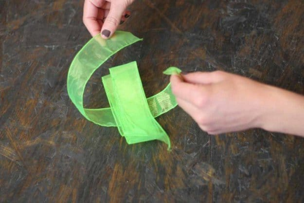 Tie knot around ribbon to form bow | How to Tie a Bow | Make 3 Beautiful Bows With Ribbon