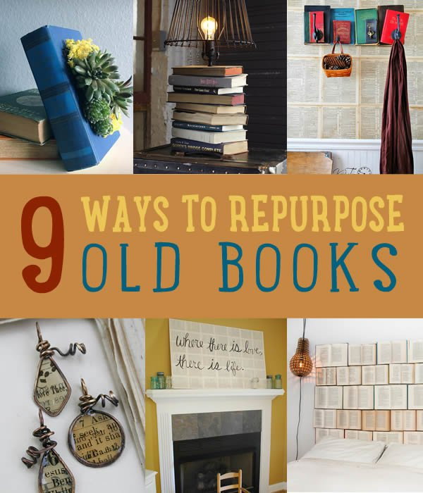 Upcycling old books diy projects craft ideas how to s for Book craft ideas