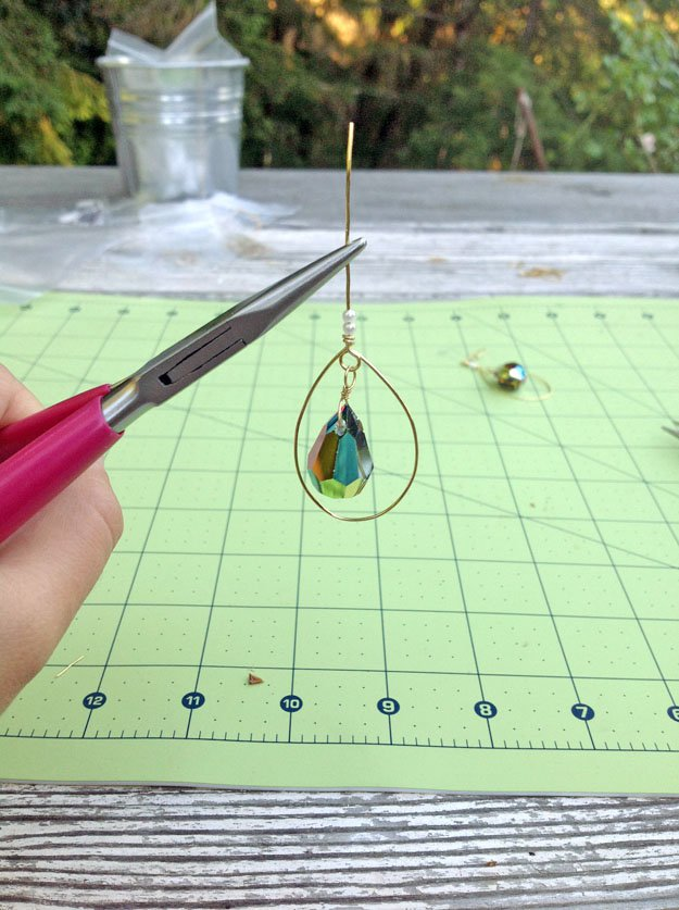 How To Make Teardrop Earrings | Wire Wrapping Techniques