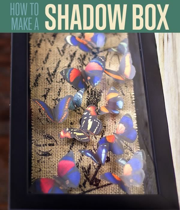 How To Make A DIY shadow box