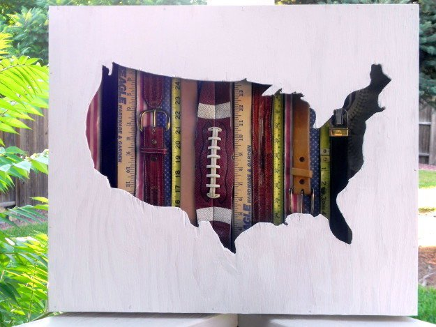 DIY Vintage Americana Wall Art Map | Cool Home Decor Wall Art Ideas for You to Craft | wall art | decorative wall art