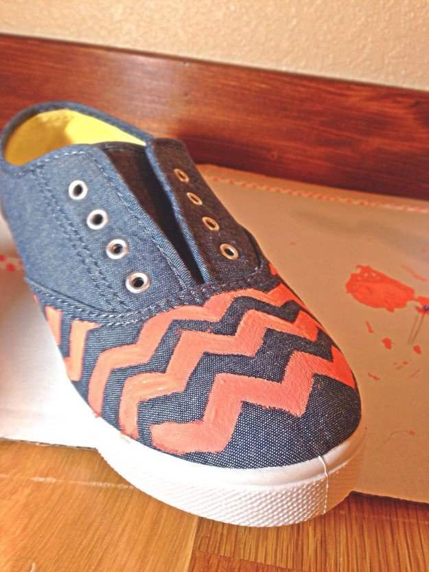 How To Make Chambray Chevron Pattern Shoes