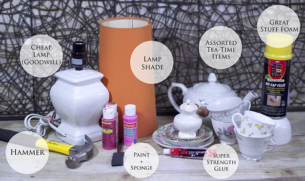 how to make a teapot lamp DIY lamp tutorial how to make a lamp how to make a stacked lamp