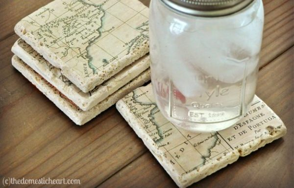Keep inspired by these map coasters.