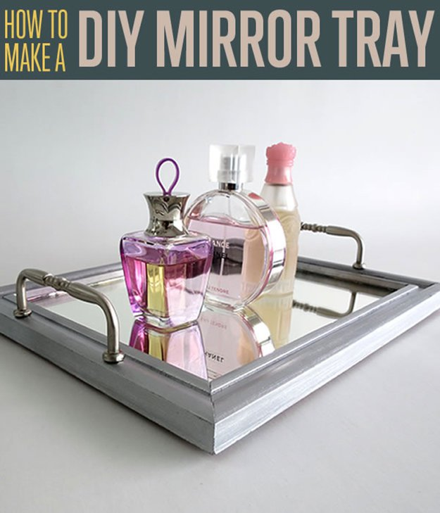 How to Make a Mirror Tray | DIY Mirrored Vanity Tray