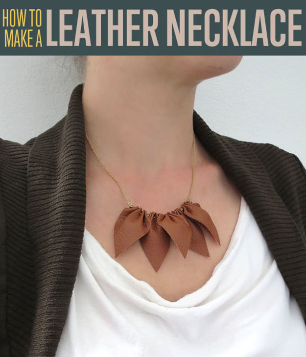 DIY leather necklace | Christmas Gifts For Girlfriend | DIY Gifts For Your BFF