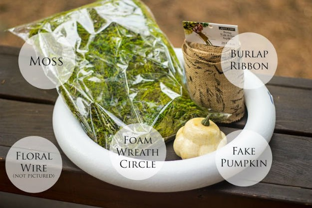 Supplies   How To Make A One Hour Harvest Wreath   Fall Wreaths