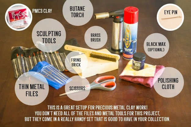 how to make silver clay with torch