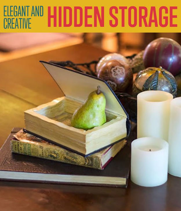 How To Make Hidden Storage Using Old Books Diy Projects