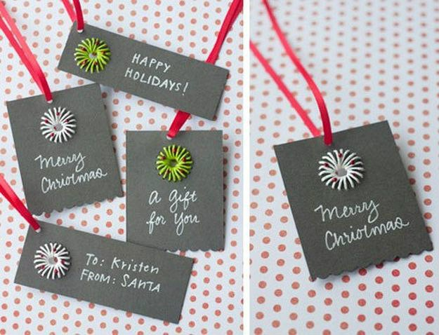 Paper Twine Gift Tags | Ideas For Fun and Creative DIY Christmas Gift Tags