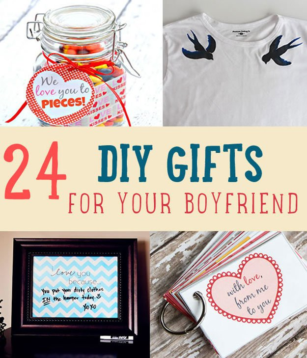 24 diy gifts for your boyfriend christmas gifts for boyfriend - Homemade Christmas Gifts For Boyfriend