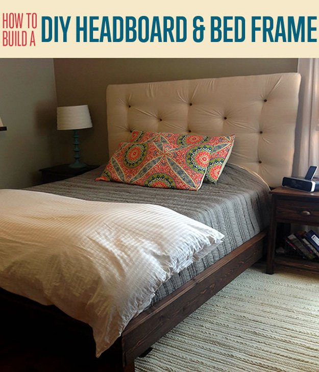 How To Build a DIY Upholstered Headboard and Bed Frame