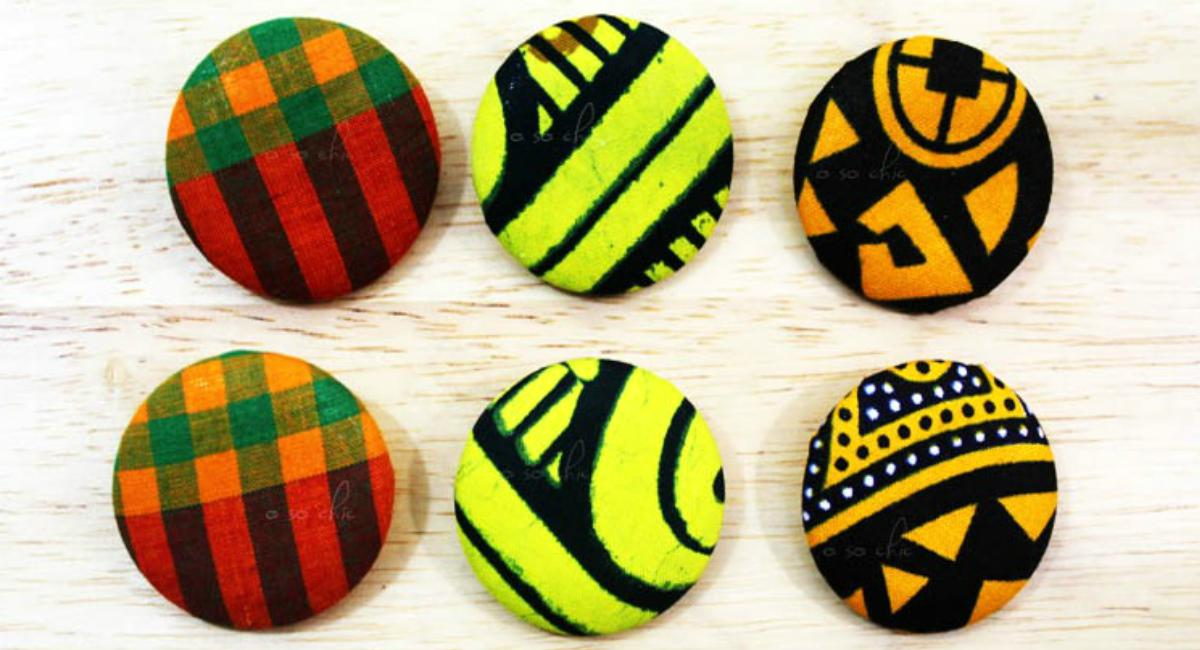 fabric button earrings | DIY Valentine Gifts You Can Make In Under An Hour