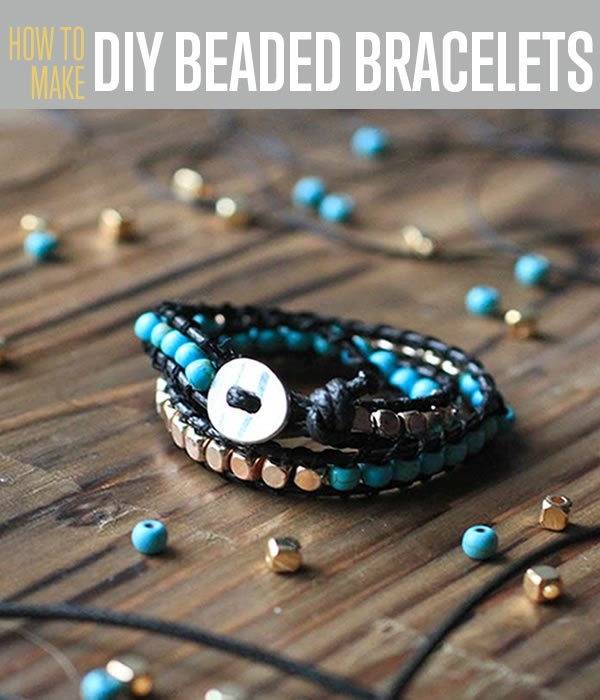 Make a beaded bracelet diy projects craft ideas how tos for home diy beaded bracelets tutorial easy diy jewelry making ideas for wrap bracelets and stretch bracelets solutioingenieria Images
