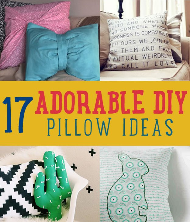Adorable Decorative Pillow Ideas DIY Projects Craft Ideas & How ...
