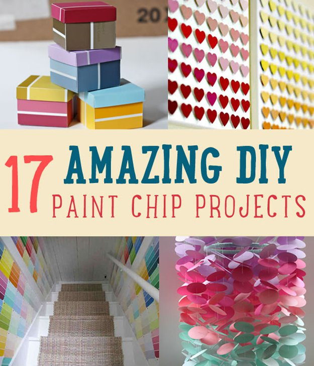 Amazing diy paint chip project ideas diy projects craft for Painting craft projects