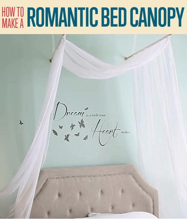 How to make a romantic bed canopy diy projects craft ideas for How to create a canopy