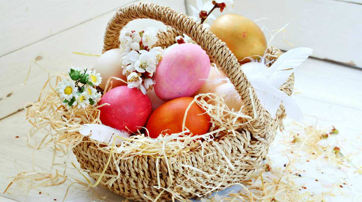 Easter painted eggs in a basket | Easter Crafts, Recipes, And Cool DIY Ideas For Your Celebration