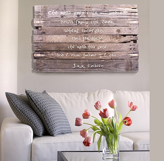 Pallet Wood Wall Art Sign | Cool Home Decor Wall Art Ideas for You to Craft | wall art | unique wall art