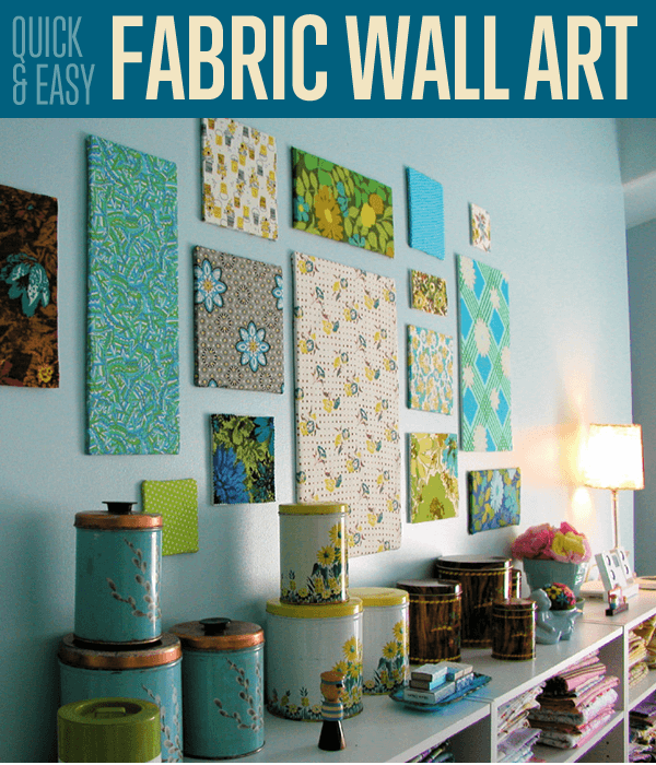 How to Make DIY Fabric Wall Art Tutorial |diyprojects.com/quick-easy-fabric-wall-art/