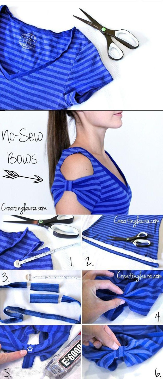 Cute DIY Top for Girls Tutorial | diyprojects.com/diy-clothes-sewing-blouses-tutorial/