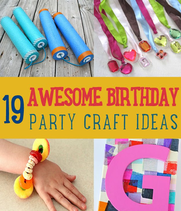 Awesome Birthday Party Craft Ideas | https://diyprojects.com/19-awesome-birthday-party-craft-ideas-that-will-make-your-day-special/