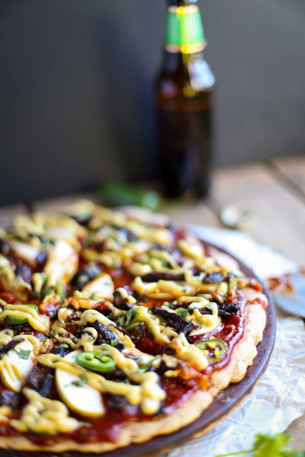 BBQ, Apple & Shiitake Bacon Pizza   Saucy BBQ Recipes & Ideas for Creative Kitchens