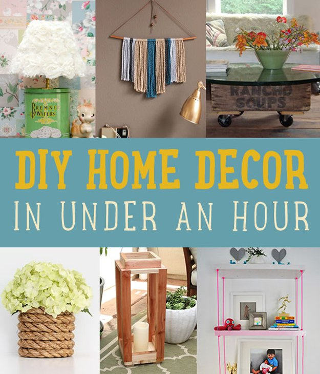 Easy Home Decor Ideas: Quick Home Decor Project Ideas DIY Projects Craft Ideas