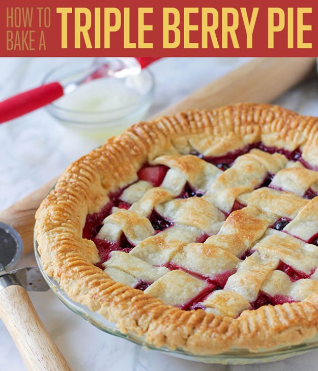 How to Bake a Triple Berry Pie | www.diyprojects.com/triple-berry-pie-recipe/