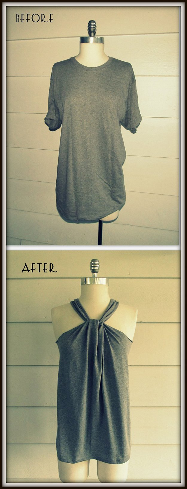 Easy Haltered DIY Top Design | diyprojects.com/diy-clothes-sewing-blouses-tutorial/