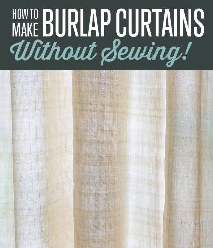 How to make burlap curtains without sewing curtain How to make a valance without sewing