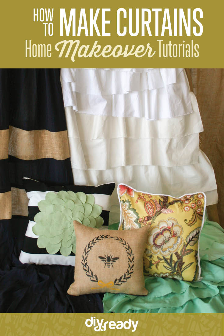 how to make curtains and pillows | Best online course to makeover your home on a budget! Check it out at https://diyprojects.com/how-to-make-curtains-and-pillows-home-makeover-tutorial