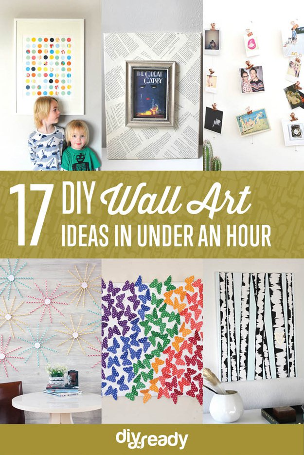 Easy Wall Art Ideas DIY Projects Craft Ideas & How To\'s for Home ...