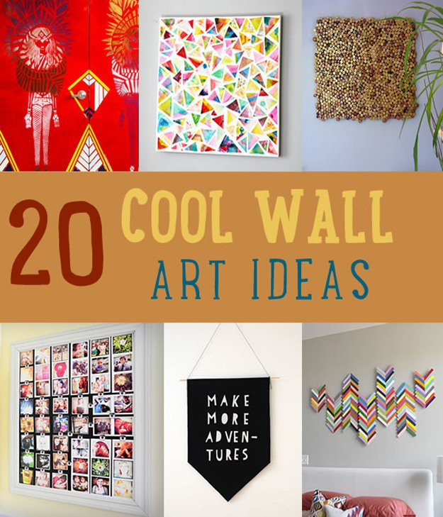 20 Cool DIY Wall Art Ideas | https://diyprojects.com/20-cool-wall-art-ideas/