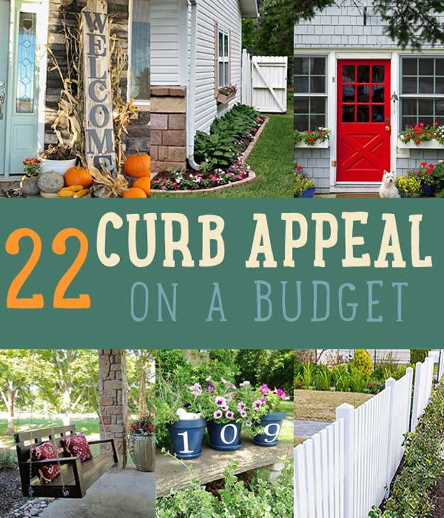 Pinterest Placard | Curb Appeal Home Decor Ideas | DIY Outdoor Crafts | Curb Appeal On A Budget