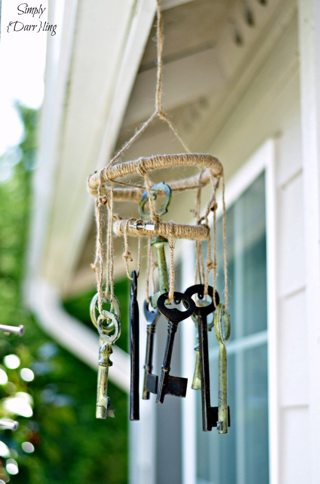 DIY Skeleton Key Wind Chimes | DIY Wind Chimes To Liven Up Your Home | Homemade Wind Chime Ideas