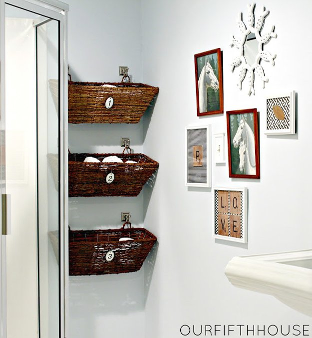 Window Box Bathroom Storage | Bathroom Decorating Ideas on a Budget