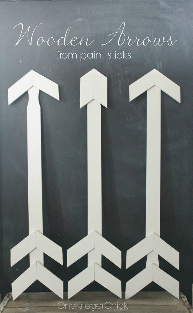 Wooden Arrows   17 Amazing DIY Paint Chip Projects